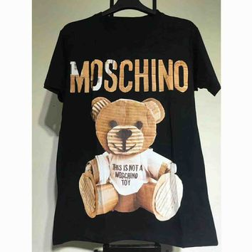 MOSCHINO WOMEN'S COTTON T SHIRTS TANK TOPS G-A-KSFZ