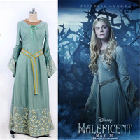 Princess Aurora Costume For Adults Sleeping Beauty Costume Blue Dress Fantasia Halloween Costumes For Women Maleficent Costume