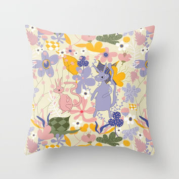 Love at first sight - Pattern Throw Pillow by Krusidull Illustrations