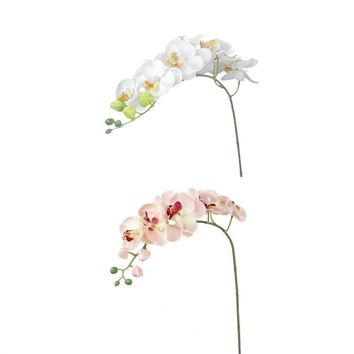 2pcs Artificial Butterfly Orchid Flower Home Decoration