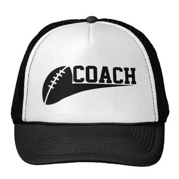 FOOTBALL COACH CAP TRUCKER HAT