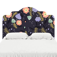 Moon Flowers Headboard Decal