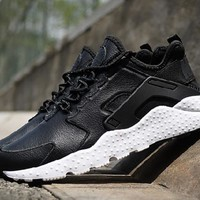 nike air huarache casual running sport shoes sneakers black