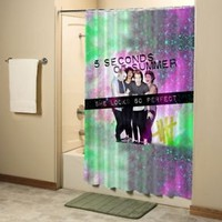 5SOS She Looks So Perfeck Nebula Shower Curtain High Quality Bathroom 60x72 Inch