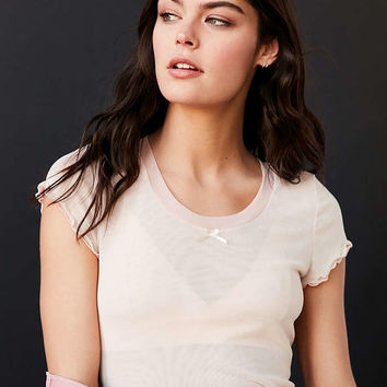 Out From Under Double Layer Mesh Tee - Urban Outfitters