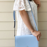 NWT Kate Spade New York Cedar Street Cali Sky Blue CrossBody Flap Bag