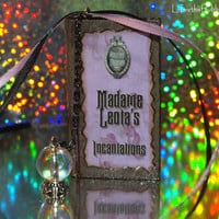 Madame Leota Incantations Miniature Book and Crystal Ball  - Ornament or Charm -The Haunted Mansion Disney Inspired by Life is the Bubbles