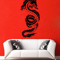 ik2872 Wall Decal Sticker Japanese dragon mystical animal and living room bedroom