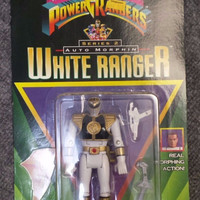 Mighty Morphin Power Rangers White Ranger Series 2 (VERY RARE) Vintage 1995 New Unopened Very Good Condition, A Gem! Free Shipping