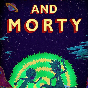 'Rick and morty...Run Morty Run ' Photographic Print by ICECHIBII
