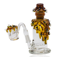 Bee Hive Nano Rig with Quartz Banger