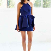Cameo Alone Tonight Fit + Flare Dress- Navy