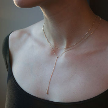 Greco Lariat Necklace - Catbird