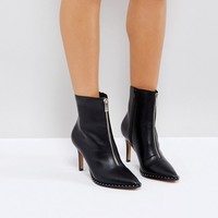 ASOS ELLISON Pointed Zip Boots at asos.com