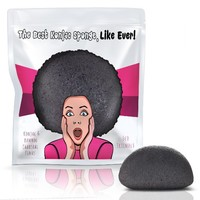 Limited Edition Konjac Sponge By Partie Naturals Activated Charcoal