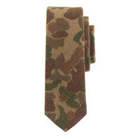 J.Crew Mens The Hill-Side Wool Tie In Camouflage