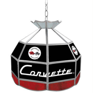 Corvette C1 Stained Glass Tiffany Lamp - 16 inch diameter