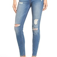 SP Black Distressed Skinny Jeans (Medium) | Nordstrom