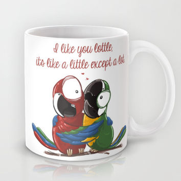 Like Lottle Macaws Parrots Mug by Lottle