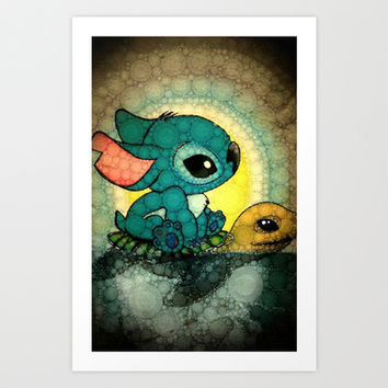 Stitch Art Print by NORI