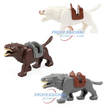 20pcs Legoingly Lord of the Rings Figures Wolf Knight Wolf Horse Battle Steed Legoingly Building Block Bricks Action Toys