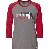 The North Face Women's USA Baseball 3/4 Sleeve Shirt | DICK'S Sporting Goods