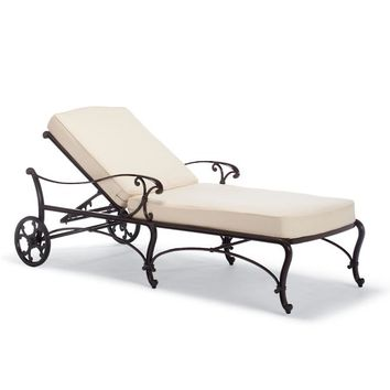 Orleans Chaise with Cushions in Chocolate Finish | Frontgate