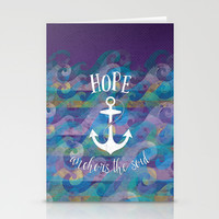 Hope Anchors the Soul Stationery Cards by Noonday Design