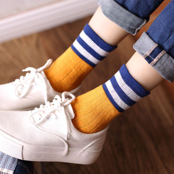 Striped Warm Winter Socks for Women