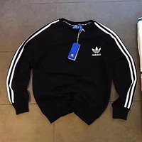 ADIDAS Woman Men Fashion Sport Round Neck Top Sweater Pullover