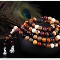 Mixed Natural Sandalwood 108 Bead Mala
