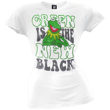 Muppets - Green Is The New Black Juniors T-Shirt