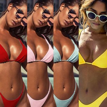 New Arrival Beach Summer Sexy Hot Swimsuit Spaghetti Strap Ladies Bikini [529431068726]