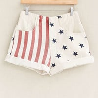 Vintage White Flag Cutoff Short - Urban Outfitters