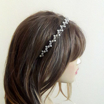 Wedding Headband, Bridal Hair Accessory, Rhinestone and Pearl headband, Bridal, Bridal Hair accessory, Wedding hair Accessories, etsy, bride