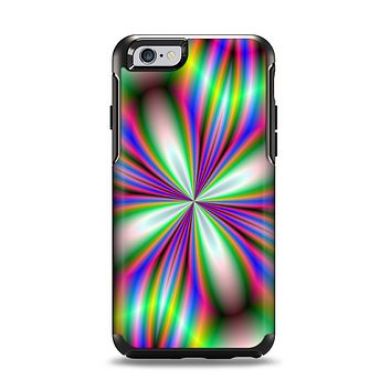 The Neon Tie-Dye Flower Apple iPhone 6 Otterbox Symmetry Case Skin Set
