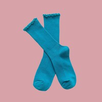 Princess Lulu Ruffle Socks | Blue