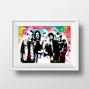 R5  band print music wall decor art poster