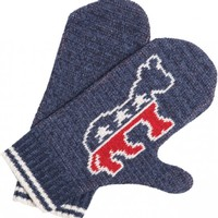 Democrat Mittens - Made from 75% pre-consumer recycled cotton