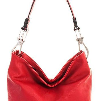 Candy Apple Red Elyce Bucket Bag