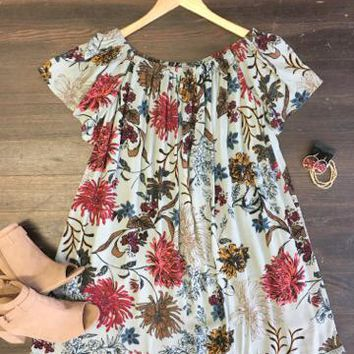 Just for You Floral Print Dress
