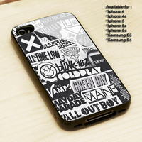 The xx, coldplay, arctic monkeys, the neighbourhood, sleeping with sirens ,The 1975 Band - Print on cover for iPhone and Samsung Galaxy case