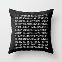 pi red - never ending story Throw Pillow by Steffi Louis-findsFUNDSTUECKE