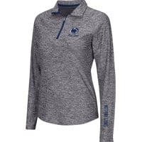 Colosseum Athletics Women's Penn State Nittany Lions Heathered Grey Studio III Quarter-Zip Long Sleeve Performance Shirt - Dick's Sporting Goods