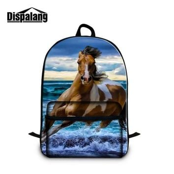 Boys bookbag trendy Dispalang Horse School Backpack for College Students Cute Laptop  for Girls Boys Schoolbag Animal Mochilas for Children AT_51_3