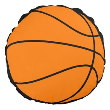 Basketball Round Pillow