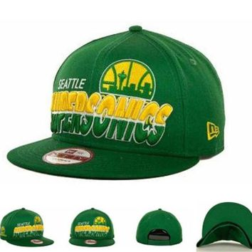 ONETOW Seattle Supersonics Nba Cap Snapback Hat - Ready Stock