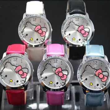 Cute Hello Kitty Cartoon Girls Watch