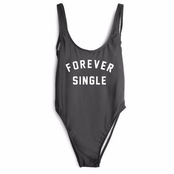 FOREVER SINGLE Women's One Piece Swimsuit