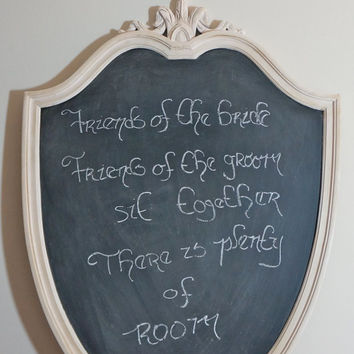 Soft Pink Chalk Board - wedding sign, welcome sign, to do list, memo board